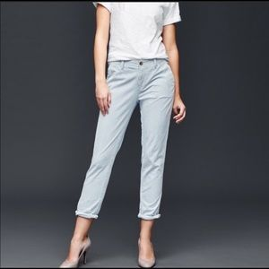 Gap railroad striped Girlfriend Chino / Crop Pants